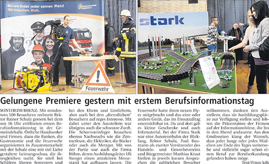 Berufsinformationstag BIT 2013 in Sontheim